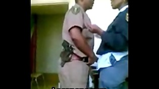 African Cops parody porn fucking office